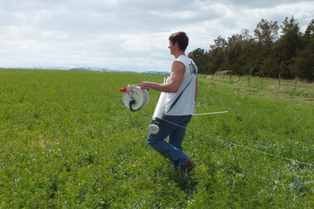 Putting up a portable electric fence